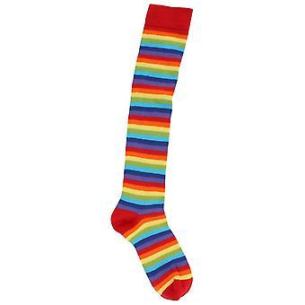 MySocks dun gestreepte knie hoog sokken - Rainbow