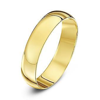 Stjärniga bröllop ringar 9ct gult guld ljus D form 3mm vigselring