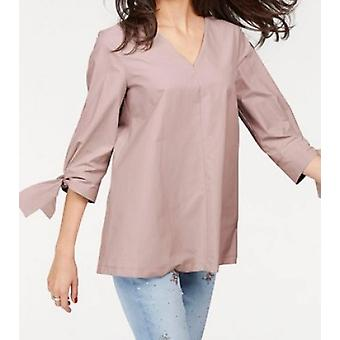 vivance collection ladies blouse with 3/4 sleeves Pink