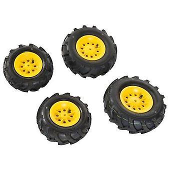 Rolly Toys 409860 4 Reifen für Traktoren und RollyFarmtrac gelb RollyJunior