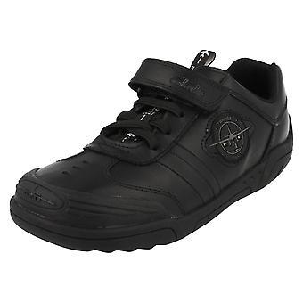 Escuela de los muchachos Clarks zapatos ala Lite