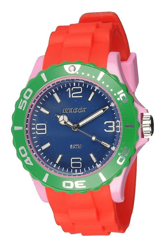 Waooh - Watch MC42 Multicolored pink green & blue