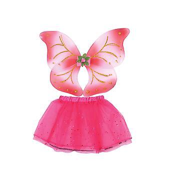 Fairy Wings + Tutu Set Pink
