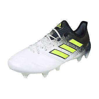 adidas Ace 17.1 SG Leather Mens Soft Ground Football Boots - White and Black