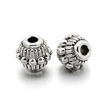 Pakke 30 x Antikk sølv tibetanske 6 x 7mm Bicone Spacer perler HA17160