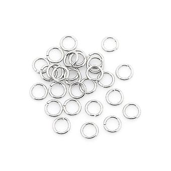 Packet 50+ Silver 304 Stainless Steel Round Open Jump Rings 1 x 10mm Y01420