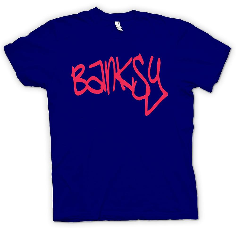 Mens T-shirt - Banksy Graffiti Artist