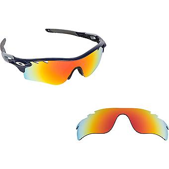 VENTED RADARLOCK PATH Asian Replacement Lenses Polarized Red by SEEK fits OAKLEY