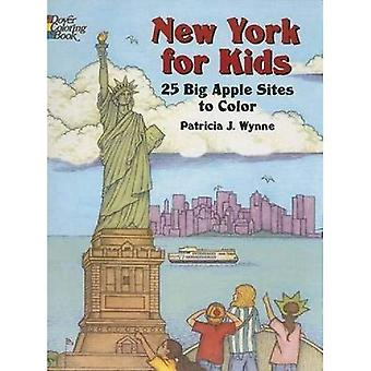 New York for Kids: 25 Big Apple Sites to Color (Dover Pictorial Archives)
