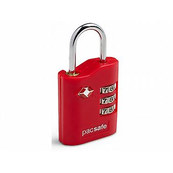 Pacsafe Prosafe 700 TSA Accepted Combination Padlock (Red)