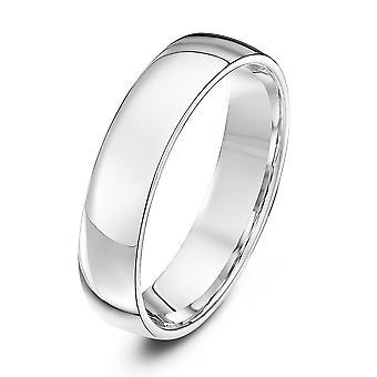 Star Wedding Rings Platinum Light Court Shape 5mm Wedding Ring