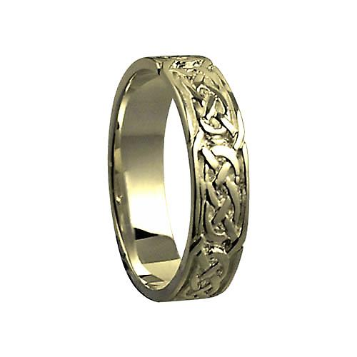 18ct Gold 6mm Celtic Wedding Ring Size Y