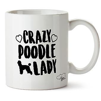 Hippowarehouse Crazy Poodle Lady 10oz Mug Cup