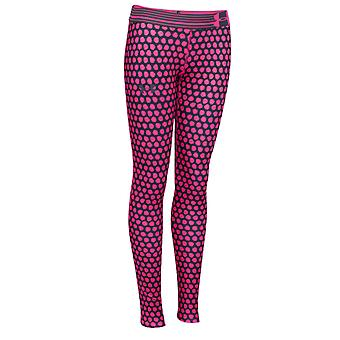 Under Armour Heatgear Armour Printed Girls Sport Legging Pink