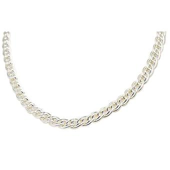 Toc Sterling Silver Gents 50 Gram Double Curb 18 Inch Necklace