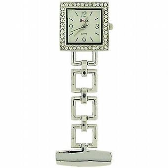 Boxx Glamour zilver Toon Square Open Link professionele Fob horloge BOXX009