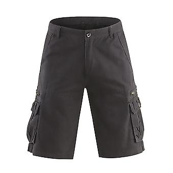 Allthemen menns korte bukser midt midje bomull casual løs shorts