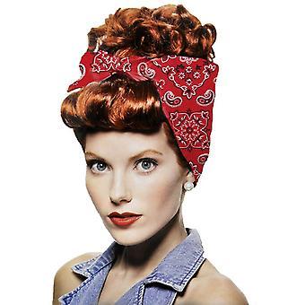 Rivetor rojo peluca para las mujeres