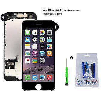 Voor iPhone 8 AA ++ Voorgemonteerd LCD scherm zwart & Tools