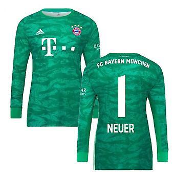 2019-2020 Bayern Munich Home Adidas Goalkeeper Shirt (Kids) (Neuer 1)