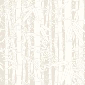 Ugepa Paste Wall White Bamboo Shoots Garden Embossed Blown Vinyl Wallpaper