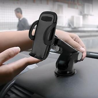 Smartphone Car Holder 55 to 95 mm 270° rotatable Suction cup holder - Black