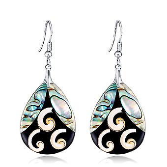 Abalone schelp Dangle Oorbellen