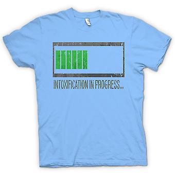 Mens T-shirt - Intoxification In Progress - Funny