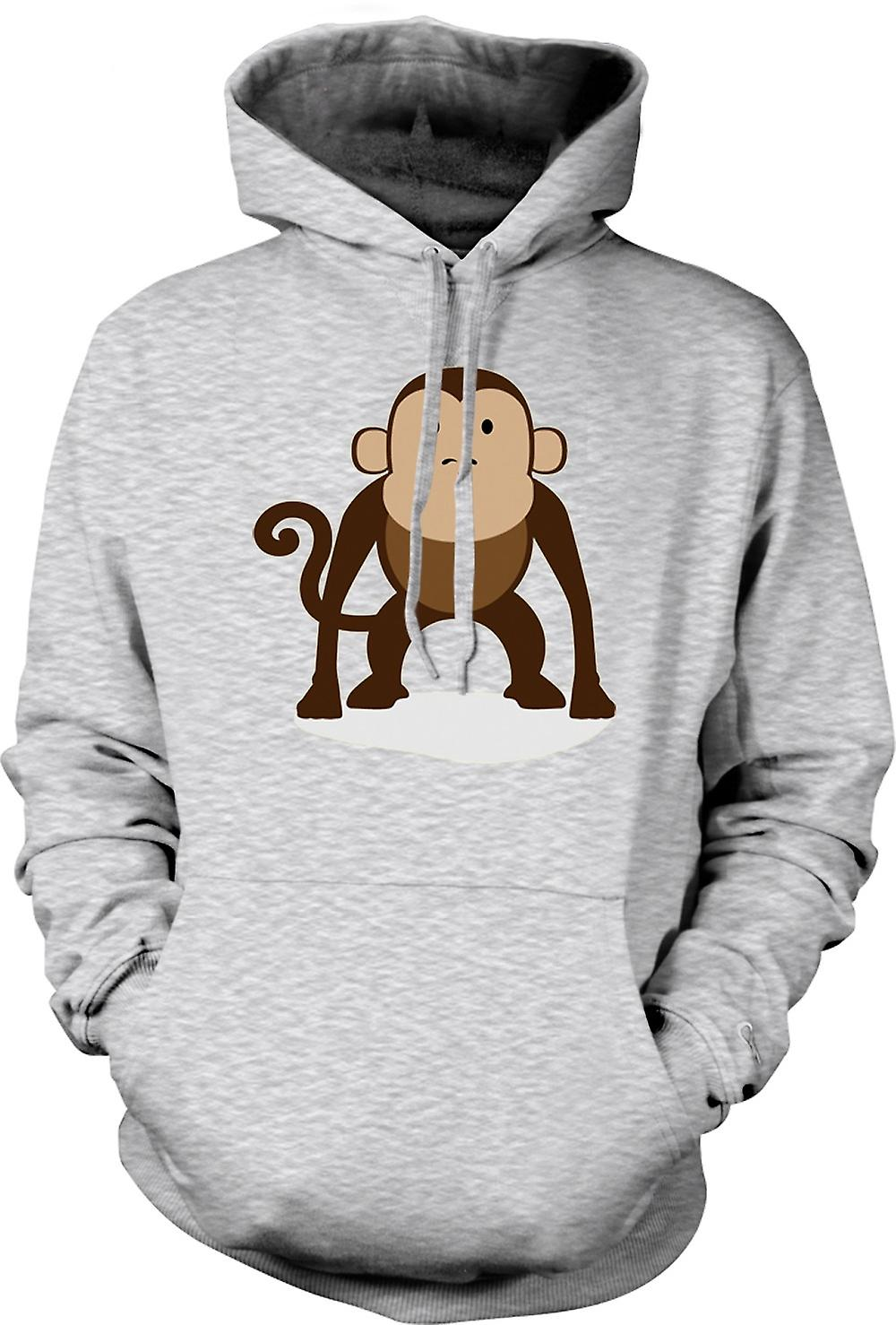 Mens Hoodie - I Love Monkeys - Cute Animal