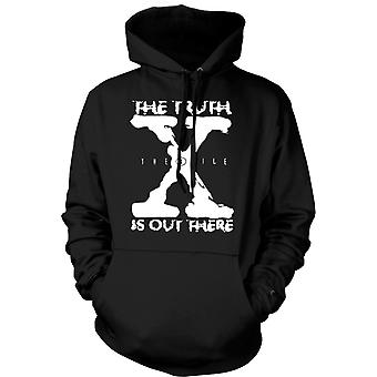 Mens Hoodie - X File Truth Is Out There - UFO