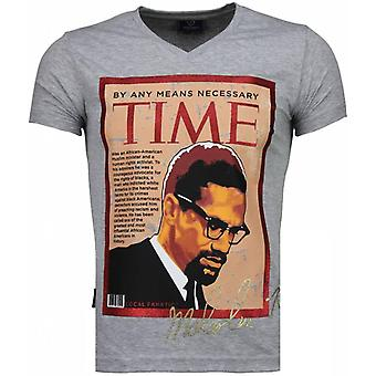 Malcolm X-T-shirt-Grey