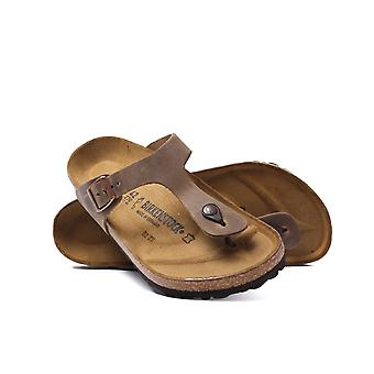 Birkenstock Tobacco Brown Leather Gizeh Sandals