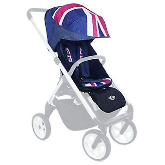 Easywalker ミニ ベビーカー アクセサリー デザイン ユニオン ジャック デニム (赤ちゃんと子供、徒歩)