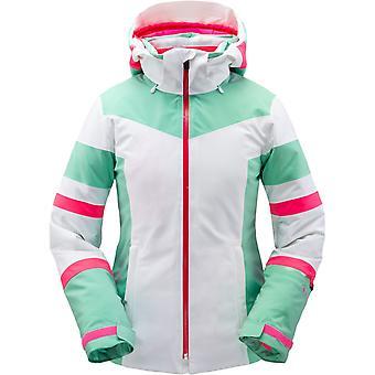 Spyder CAPTIVATE Damen Gore-Tex PrimaLoft Ski Jacke weiß