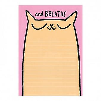 Ohh Deer Breathe Cat A5 Notepad