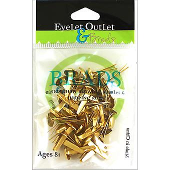 Eyelet Outlet Round Brads 8mm 40/Pkg-Gold BRD8MM-710A