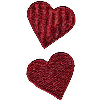 Wrights Iron On Appliques Red Hearts 1 3 4