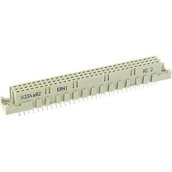 Edge connector (receptacle) 284170 Total number of pins 64 No. of rows 3