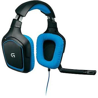 Gaming hodetelefonen 3.5 mm kaie fast Logitech Gaming Logitech G430 Gaming Headset Over-øret svart, blå