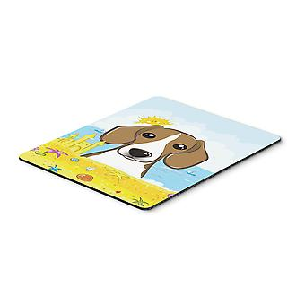 Beagle Summer Beach Mouse Pad, Hot Pad or Trivet BB2107MP