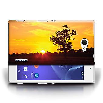 STUFF4 Case/Cover for Sony Xperia M2/Oak Tree Orange/Sunset Scenery