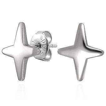 Acciaio inox maschio urbano 8mm stelle Stud Earrings