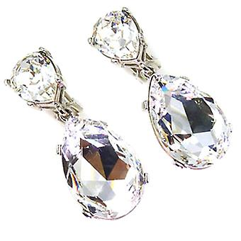 Kenneth Jay Lane Crystal Teardrop Earrings