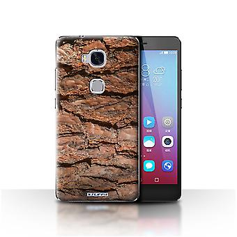 STUFF4 Case/Cover for Huawei Honor 5X/GR5/Layered/Brown/Tree Bark
