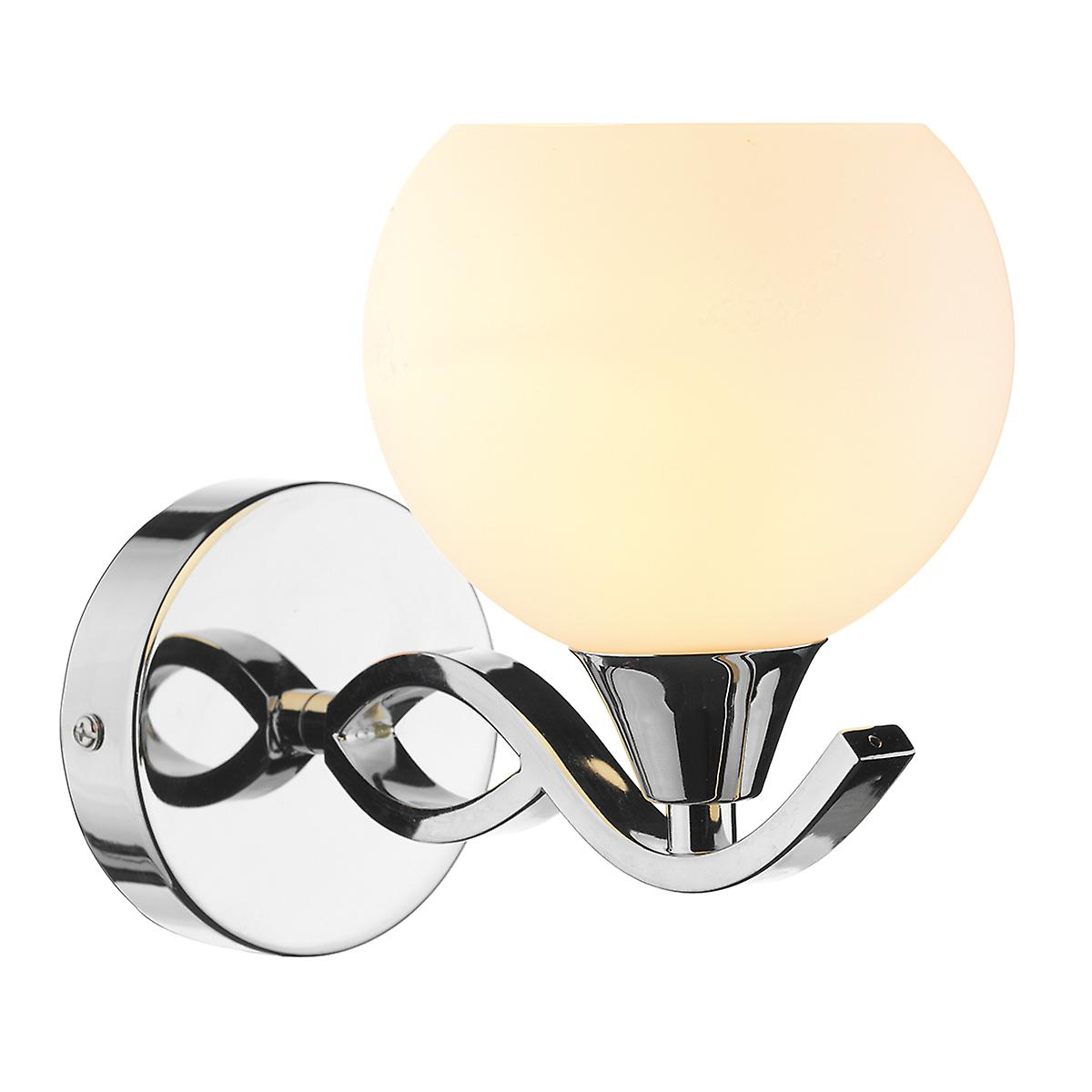 Dar ARU0750 Aruba Switched Wall Light With Opal Glass - Double Insulated