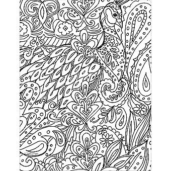 Wells Street by LANG-Bohemian Designs Adult Coloring Book WSBL-93001