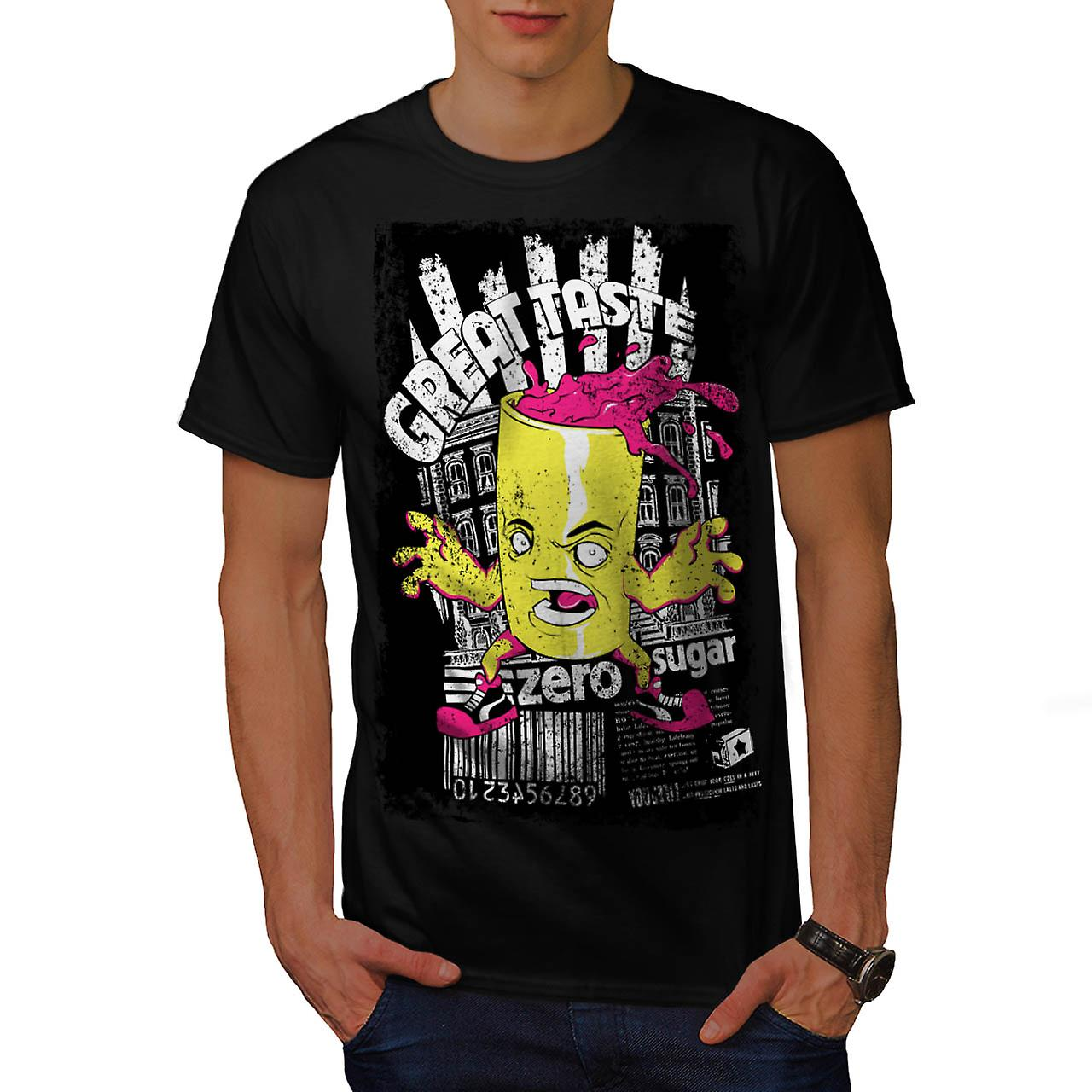 Great Taste Candy Food Men Black T-shirt | Wellcoda