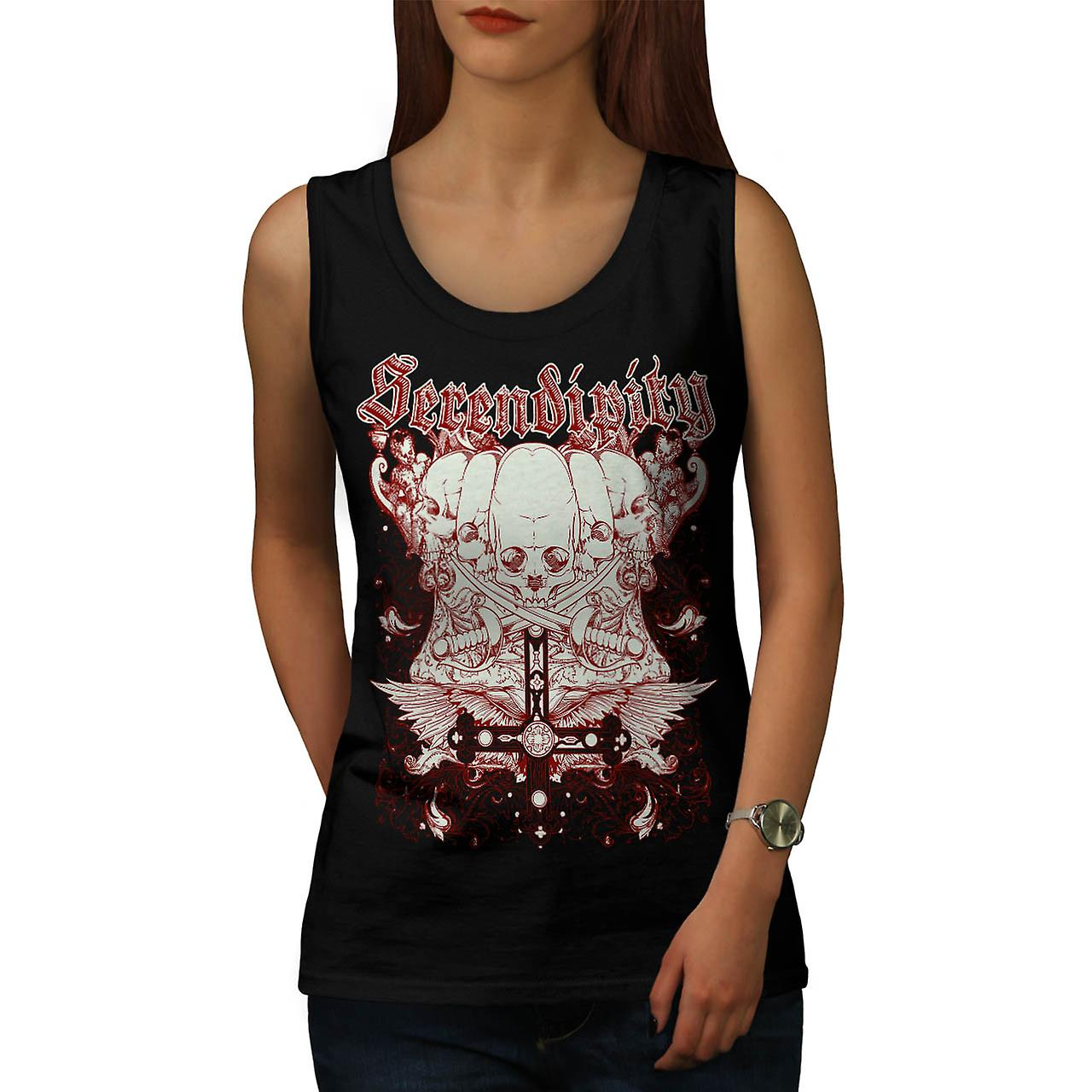 Serendipity Tombstone Grave Yard Women Black Tank Top | Wellcoda