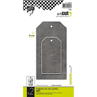 Carabelle Art Cut Die-Tags, 2/Pkg AC60013