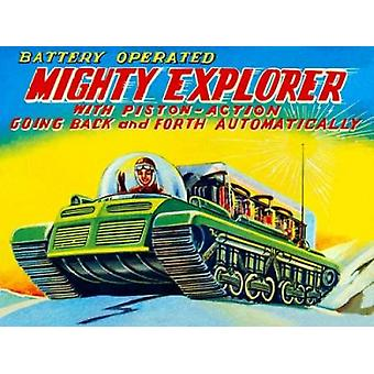 Mighty Explorer with Piston Action Poster Print by Retrobot